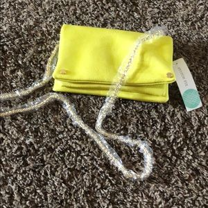 Brand new yellow clutch!